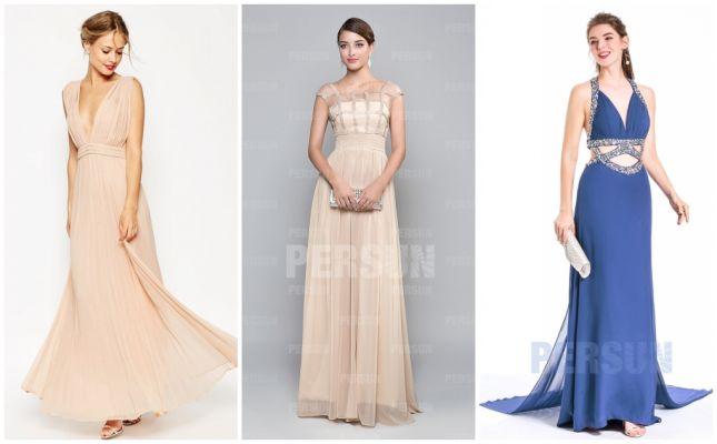 robe de bal de couleurs pastel claires pour le mariage